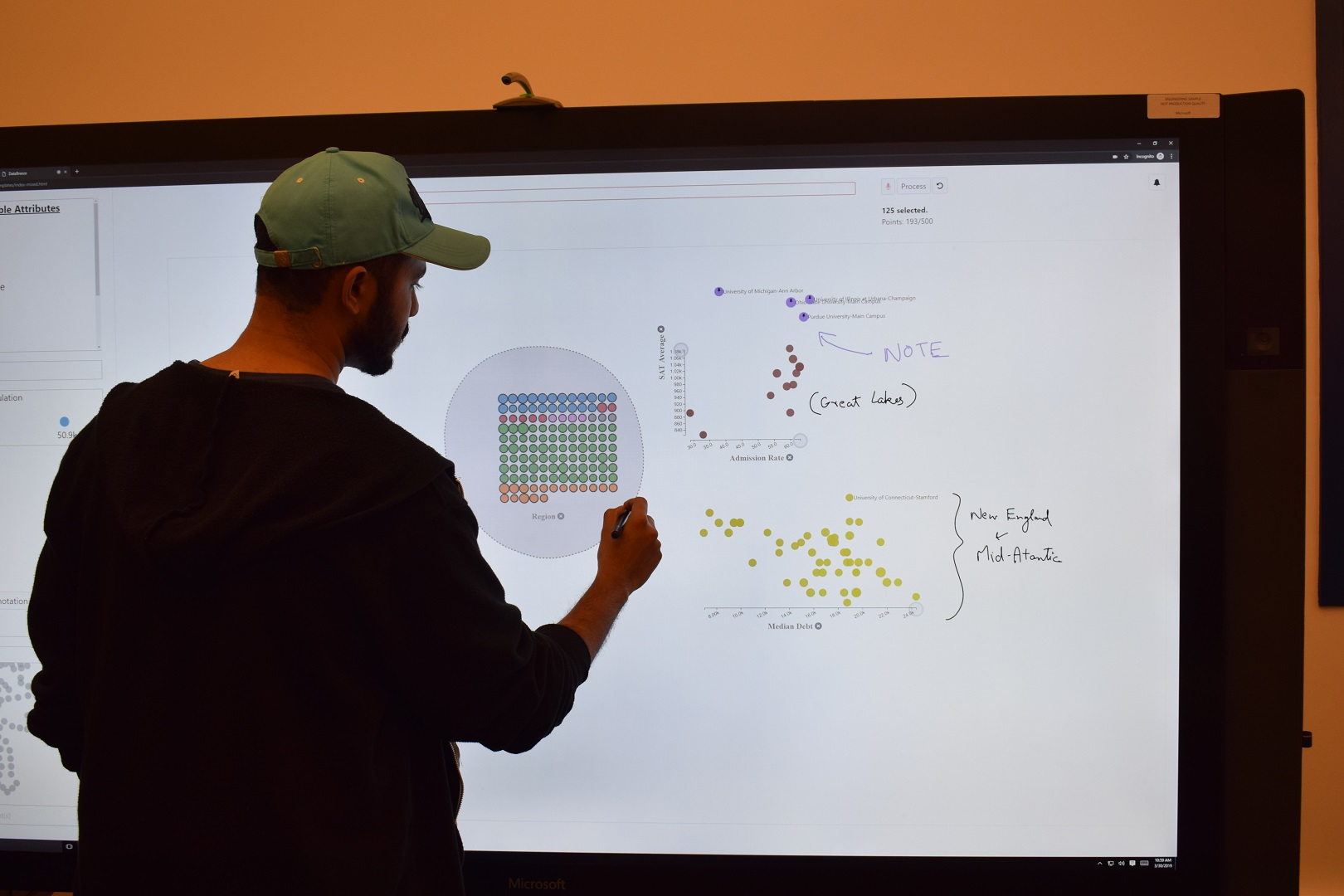 "An author using the ""DataBreeze"" system to author and explore unit visualizations"